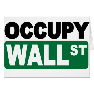 Occupy Wall St. Greeting Card