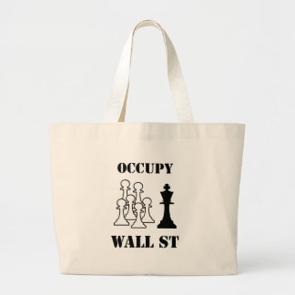 Occupy Wall St Large Tote Bag