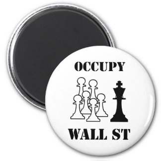 Occupy Wall St 6 Cm Round Magnet
