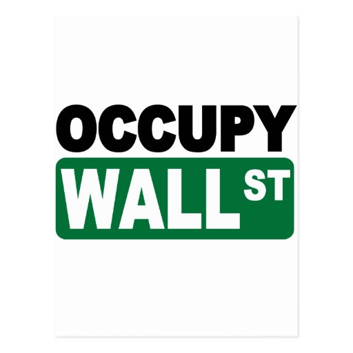 Occupy Wall St. Postcard