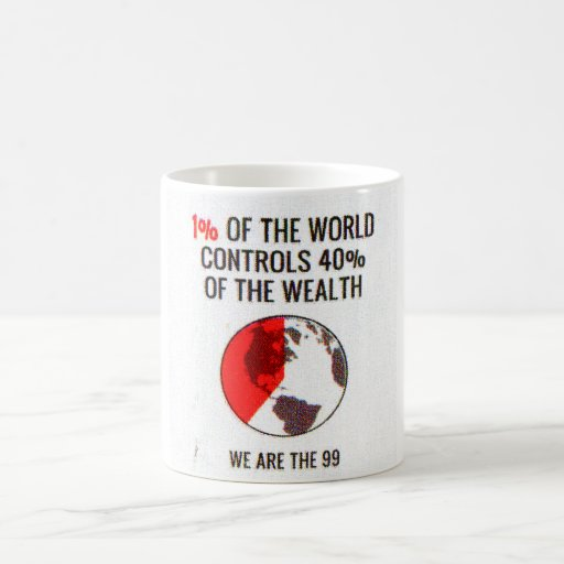 Occupy Wall Street - 1% World Controls 40% Wealth Mug