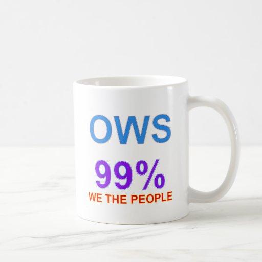 Occupy Wall Street 99% We the People Coffee Mugs