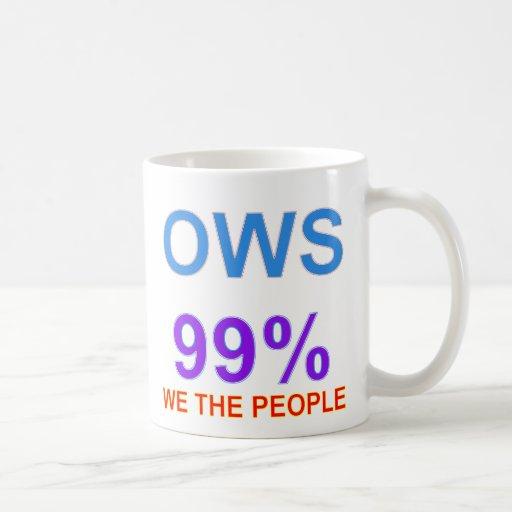 Occupy Wall Street 99% We the People Mug