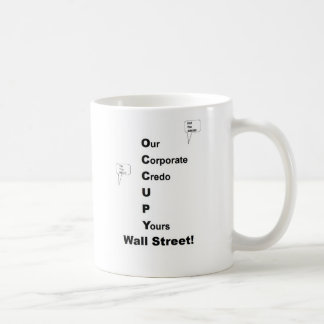 Occupy Wall Street Basic White Mug