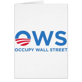 occupy wall street card