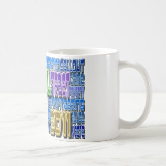 Occupy Wall Street FIGHT Greed TALL Design Mugs