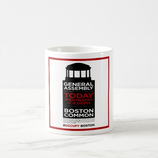 Occupy Wall Street General Assembly BOSTON Coffee Mug