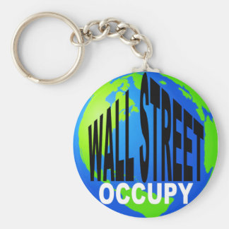 Occupy Wall Street Global Basic Round Button Key Ring