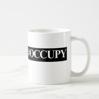 Occupy wall street hashtag coffee mugs