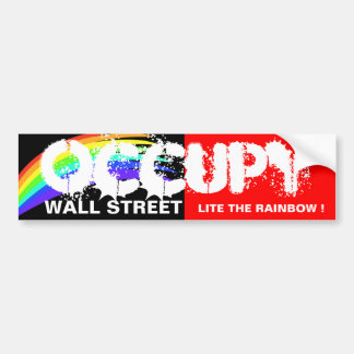 OCCUPY WALL STREET LITE THE RAINBOW ! BUMPER STICKER