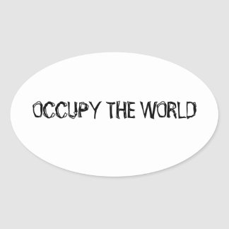 Occupy WALL STREET Oval Sticker