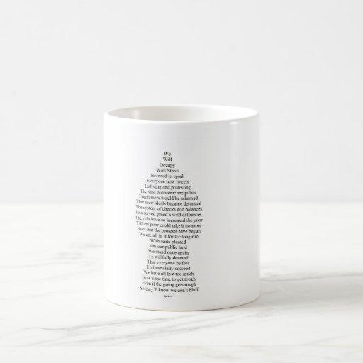 Occupy Wall Street Pawn Poem Mug