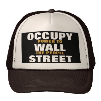 OCCUPY WALL STREET POWER TO THE PEOPLE CAP