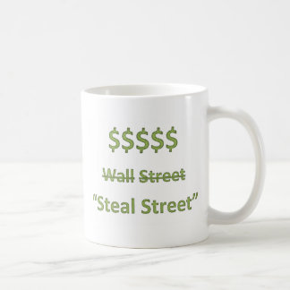 Occupy Wall Street Retro Basic White Mug