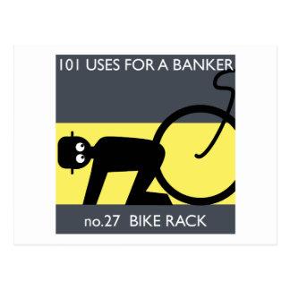 occupy wall street - take your bike! postcard