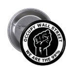 Occupy Wall Street, We Are The 99% 6 Cm Round Badge