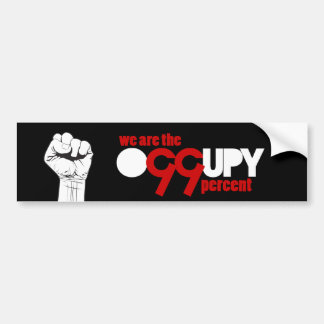 Occupy Wall Street - We are the 99 Percent Bumper Sticker