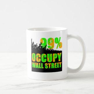 occupy wallstreet basic white mug