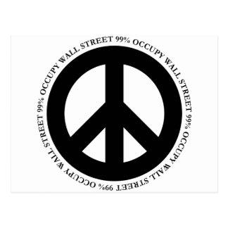 occupy wallstreet postcard