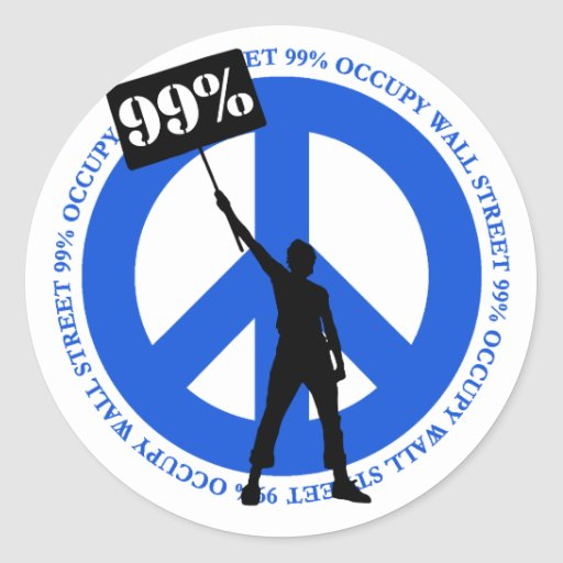 Occupy Wallstreet Round Stickers