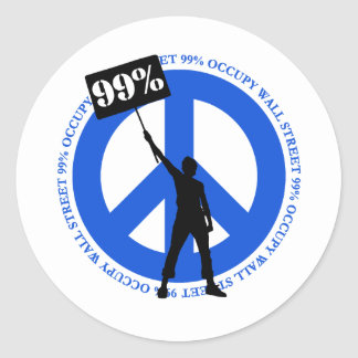 Occupy Wallstreet Round Sticker