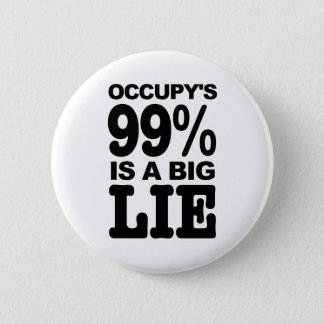 Occupy's 99% is a Big Lie 6 Cm Round Badge