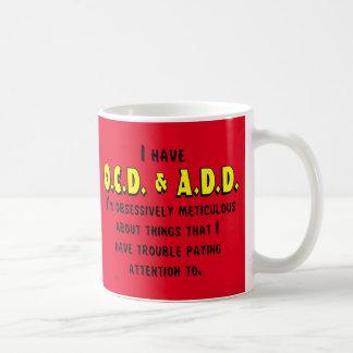 OCD-ADD Black/Yellow Coffee Mug
