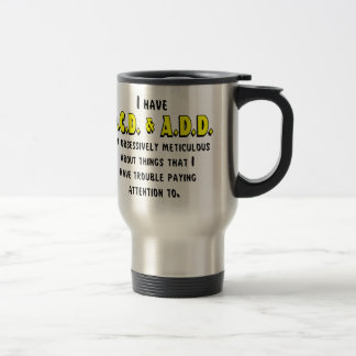 OCD-ADD Black/Yellow Travel Mug