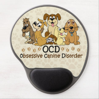 OCD Obsessive Canine Disorder Gel Mouse Pad