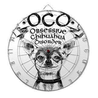 OCD obsessive chihuahua Dartboard