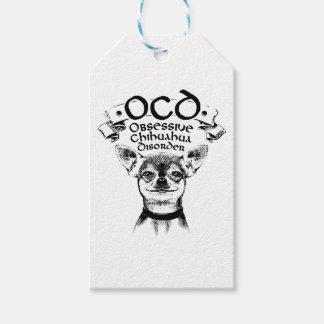 OCD obsessive chihuahua Gift Tags