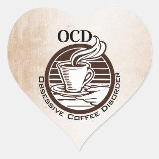 OCD: Obsessive Coffee Disorder Heart Sticker