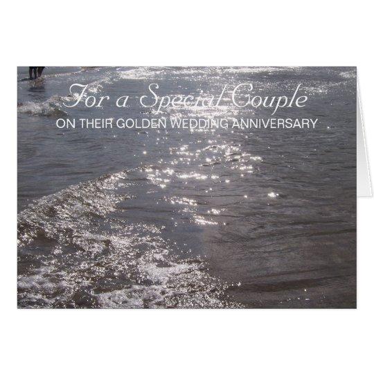 Ocean 50th Wedding Anniversary Card
