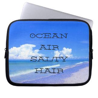 Ocean Air Salty Hair Laptop Sleeve