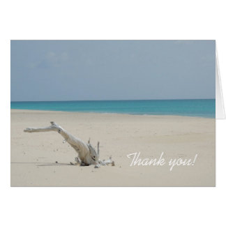 Ocean and Beach Driftwood Thank You Card