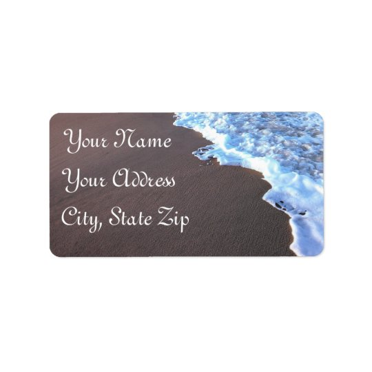 Ocean and Beach Theme Label