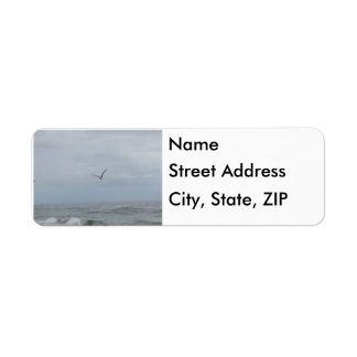 Ocean and Bird Return Address Labels