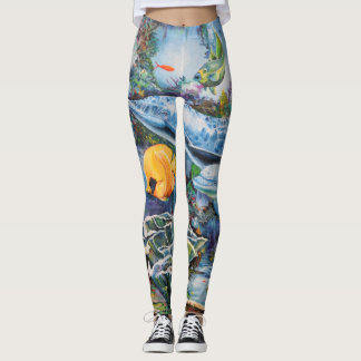 Ocean and Fish Mural Leggings