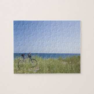 Ocean and horizon with clear blue sky jigsaw puzzle