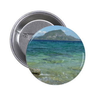 Ocean and Mountain Scenery 6 Cm Round Badge