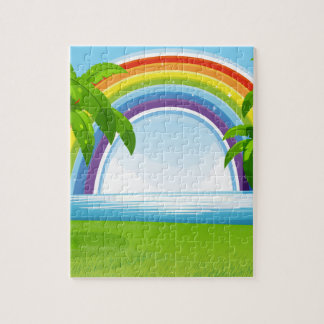 Ocean and rainbow jigsaw puzzle