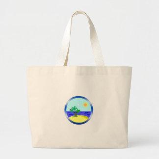 Ocean and sunlight large tote bag