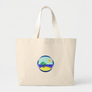 Ocean and sunlight large tote bag