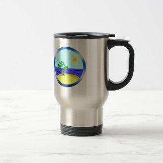Ocean and sunlight travel mug