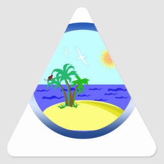 Ocean and sunlight triangle sticker