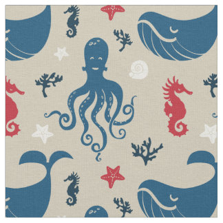 Ocean Animals | Nautical Nursery Fabric
