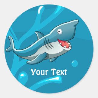 Ocean Aquatic Cute Shark Custom Sticker