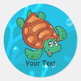 Ocean Aquatic Cute Turtle Custom Sticker