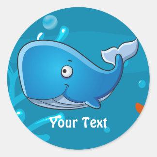 Ocean Aquatic Cute Whale Custom Sticker