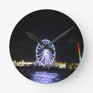 Ocean at Night Wall Clocks